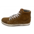 Mens Cow Suede Leather Sneakers,Classic Shoes ,High Top Shoes