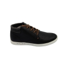 Casual Mid Neck Action Leather Black Sneakers Shoes for Mens