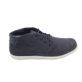 Mid Top Suede Leather Men Sneakers ,Navy
