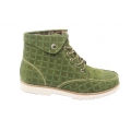 Suede leather green lace up mens boots fashion boots