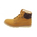 Classic mens boots brown shoes for winter Pu boots