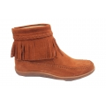 Women Girls Fringe Tassels Short Suede Boots