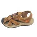 Mens comfortable walking sandals  leather sandals