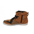 Men lace up sneakers brown fashion shoes