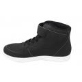 Black sneakers for men velcro action leather shoes